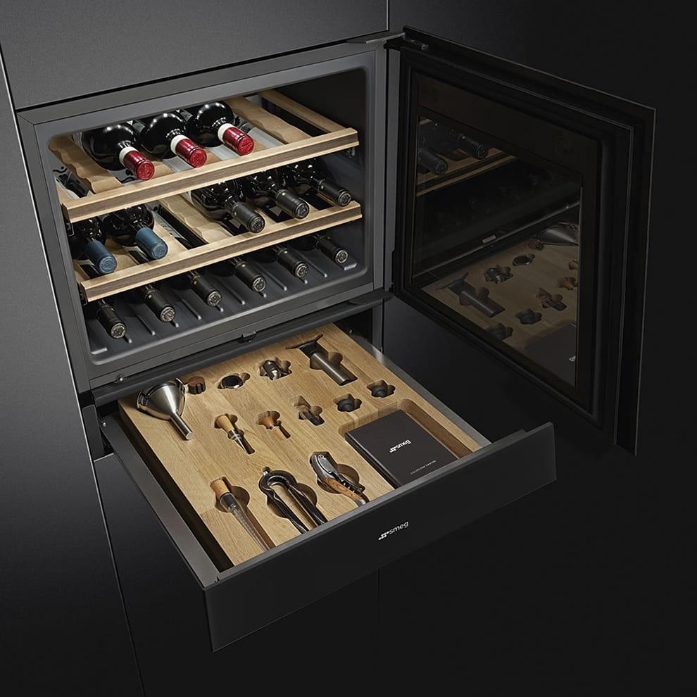 Встраиваемый винный шкаф SMEGCVI121N3 - 3