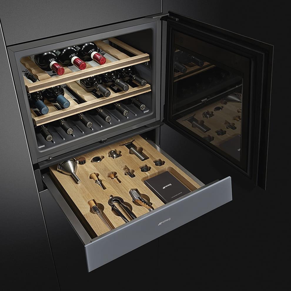Встраиваемый винный шкаф SMEGCVI121S3 - 4
