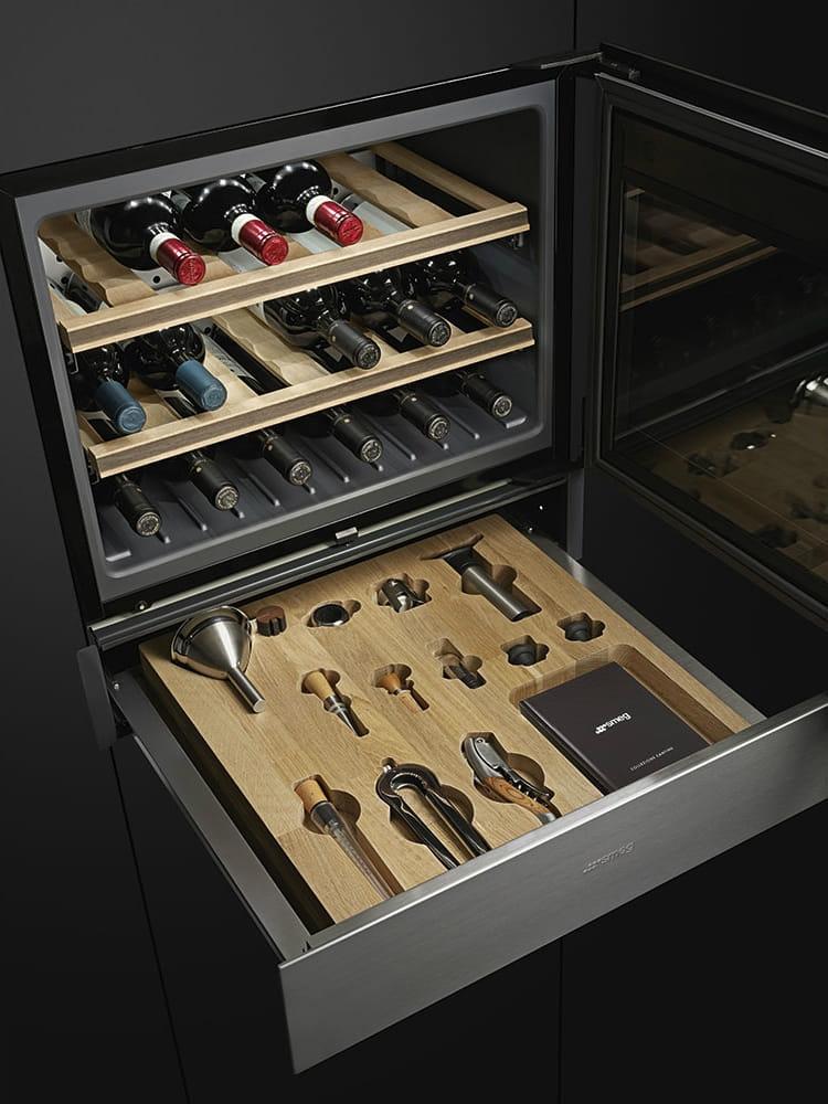 Встраиваемый винный шкаф SMEGCVI321X3 - 5