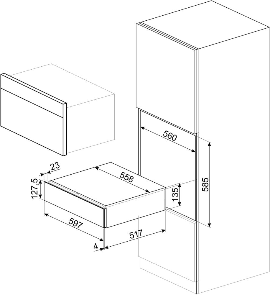 Ящик сомелье SMEG CPS615NR - 2