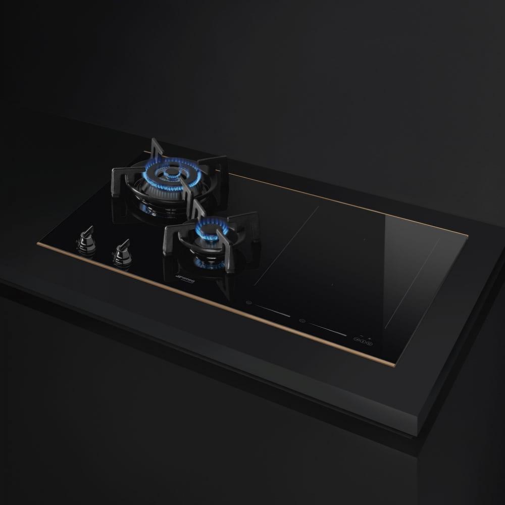 Комбинированная варочная панель SMEG PM6721WLDR - 2